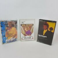 Vintage Lot 3 Rod Stewart Cassette Tapes - I'm Yours, Maggie May, Picture Story