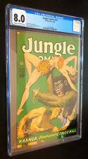 JUNGLE COMICS #75 (Fiction House 1946) -- CGC 8.0