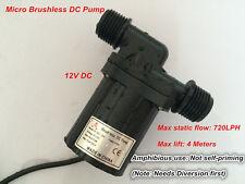 Small Water Pump DC40C-1240 for Water Circulation Aquarium Submersible 720LPH 4M