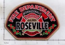 California - Roseville Fire Dept Patch