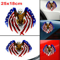 Bald Eagle USA American Flag Sticker Car Window Decal Bumper Decor Car Accessory