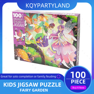 100PCS Kids Jigsaw Puzzle FAIRY GARDEN Adults Activity Learning Toy Games Gift