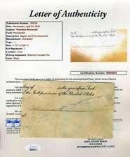 Theodore Roosevelt JSA Loa Hand Signed Document Cut Autograph