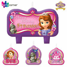 SOFIA THE FIRST BIRTHDAY PARTY SUPPLIES CANDLE MINI MOULDED PACK OF 4