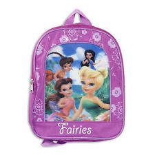 "Backpack 11"" Tinkerbell & Fairy Friends Purple Floral Lenticular NWT"