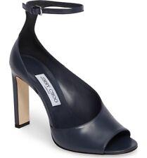 NIB Jimmy Choo Theresa 100 Blue Leather Sandals Open-toe Heels Pumps 10 40 $795
