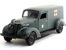 PHOENIX MINT 18376 1937 STUDEBAKER ARMY AMBULANCE VAN 1/43 GREEN W DISPLAY CASE