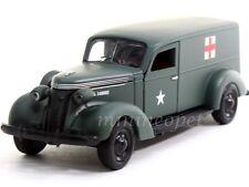 PHOENIX MINT 18376 1937 STUDEBAKER ARMY AMBULANCE VAN 1/43 GREEN W DISPLAY CASE
