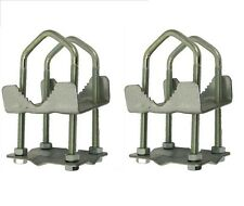 Pole Mast 2 x 2 Mast Clamp. For poles up to 2 inch diameter. Pack of 2.