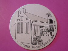 Vintage BELGIAN Beer Coaster ~ Brouwerij Tomsin HOEGAARDEN ~ Oud Hoegaards Bier