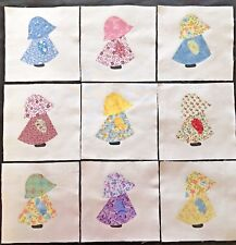 Lady Armful Morning Glories Fabric Quilt Block Multi Sz FrEE ShiPpinG WoRld WiDE