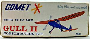 "30"" COMET GULL II Balsa Wood Rubber Power Free Flight Model Airplane Kit #3902"