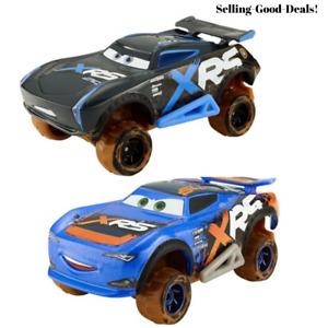 2 Disney Pixar 1:55 scale Die-Cast XRS Mud Racing Jackson Storm & BARRY DePedal