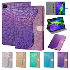 Bling Glitter Leather Flip Folio Stand Case Cover For iPad Pro11/5/6/7th Gen/Air