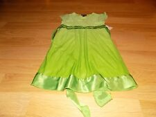 Girl's Size 8  BCX Girl Solid Green Sheer Organza Easter Dress Glitter Sparkle