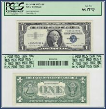 1957A Star $1 Silver Certificate Dollar PCGS Currency 66 PPQ Gem New Unc Note
