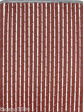 PATRICIAN 4 Ft High Redwood Chain-Link Fence Privacy Slat Insert Cover 10 Feet