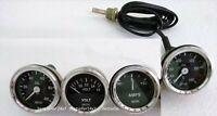 Smiths Replica Gauges Kit Oil Temp+ Oil Pressure + Volt +  Amp Gauge 52 mm Black