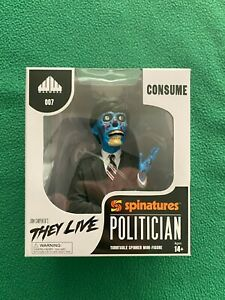 JOHN CARPENTER'S THEY LIVE Politician Figurine Bust Spinatures Waxwork NEW MINT