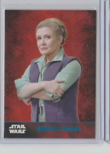 Star Wars The Force Awakens Series 1 Trading Card Blue General Leia Organa #38