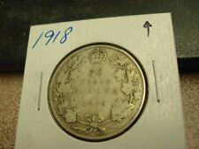 1918 - Silver - Canadian half dollar - Canada 50 cents
