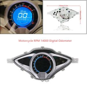 12V Motorcycle LCD Digital Odometer Speedometer Tachometer Gauge Meter Universal