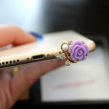 1PC Romantic Flower Universal Headphone Jack Dust Plug For Samsung iPhone Xiaomi