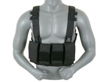 MULTI-MISSION 8 MAG CHEST RIG - Black - 8FIELDS MILITARY AMMO CARRIER AIRSOFT..