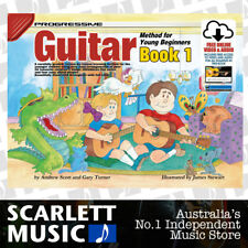 Progressive Guitar Method Young Beginners Book 1 ( One / First ) w/ Online Media
