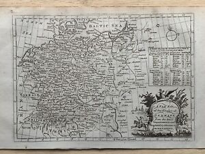 1779 Empire Of Germany by Thomas Bowen Original Antique Map 241 Years Old
