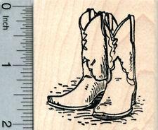 Cowboy Boots Rubber Stamp, Western J31205 WM