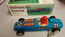 Vintage Volture De Coure Wind Up Racing Car w/Key in Original Box
