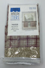 Top of the Window Maisie Plaid Kitchen Curtain Tiers Ruby 54 X 24