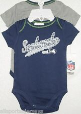 NFL NWT INFANT ONESIE-SET OF 2- SEATTLE SEAHAWKS 18M