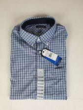 NWT $70 NAUTICA MENS BUTTON DOWN DRESS SHIRT ORANGE//BLUE PLAID 15.5 36//37