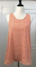 Market & Spruce Stitch Fix Women's Greta Tank Top Blouse Knit Back Orange Sz L