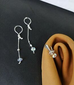 Set of nipple nooses and clitoral clip handmade out of sterling silver and