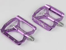 Krsec Aluminum Xc Am Mountain Road Bike Bearing Pedals flat Bicycle Pedal Purple