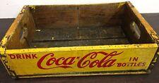 Primitive Antique Old Coca Cola Wood Pop Crate