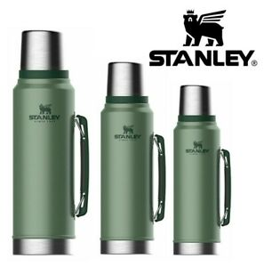 CLASSIC STANLEY FLASK VACUUM BOTTLE DRINKS HOT & COLD HIKING THERMOS GREEN NEW