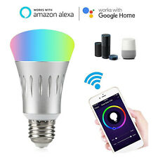 1X 2X 7W E27 Wifi Smart LED Light Bulb Work with Amazon Alexa RGB Remote Control