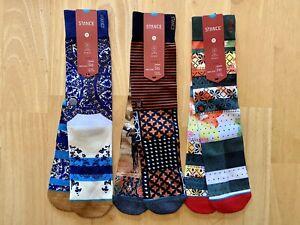 3 Pairs of Stance Mens Dwyane Wade 200 Needle Socks Large (9-12)