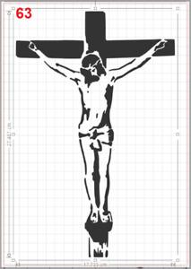 Jesus on Cross Crucifix Stencil MYLAR A4 sheet strong reusable Art Craft Deco