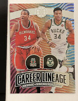 2019-20 PANINI ILLUSIONS NO. 11 GIANNIS ANTETOKOUNMPO CAREER LINEAGE FOIL MINT!