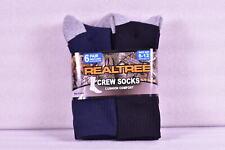 Men's Realtree Cushion Comfort Crew Socks, Dark Denim Blue & Black - 6 Pairs