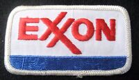"EXXON EMBROIDERED SEW ON PATCH GAS OIL UNIFORM ADVERTISING 3 1/2"" x 2"" rectangle"
