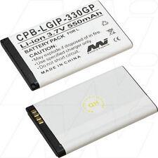 CPB-LGIP-330GP 3.7V 550mAh Lithium Mobile Phone Battery