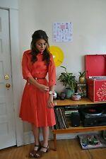 vintage LANVIN classic French designer dress, retro polka dot shirtdress