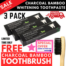Pro 315g Bamboo Charcoal All Purpose Teeth Whitening Black Toothpaste - 3 PACK
