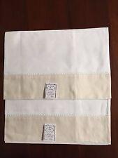 Gulucci, Ecru Border Irish Linen Bath Towel Hand Embroidery (set of 2) 2988EW